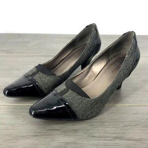 Tradition cameron low heels tweed size8